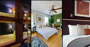 Hostels, airbnb, hotesl